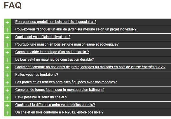 exemple de FAQ ou foire aux questions