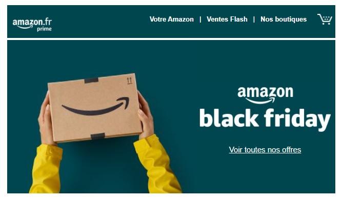 carton Amazon sur fond vert
