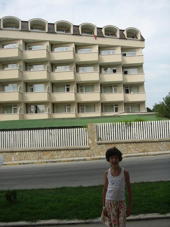 Наша гостиница. Наш номер на 4 этаже вторая слева.