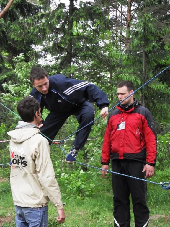 Олег Давыдов на этапе