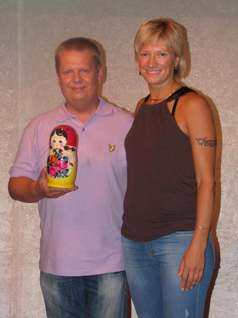 Света Липкина с Эриком - организатором турнира