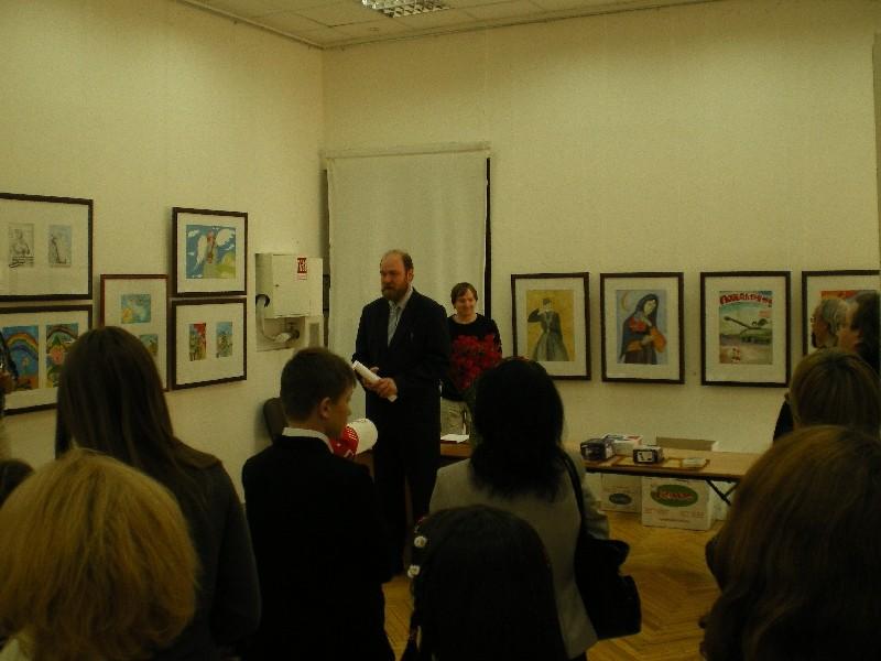 В зале Выставочного центра С-Пб союза художников