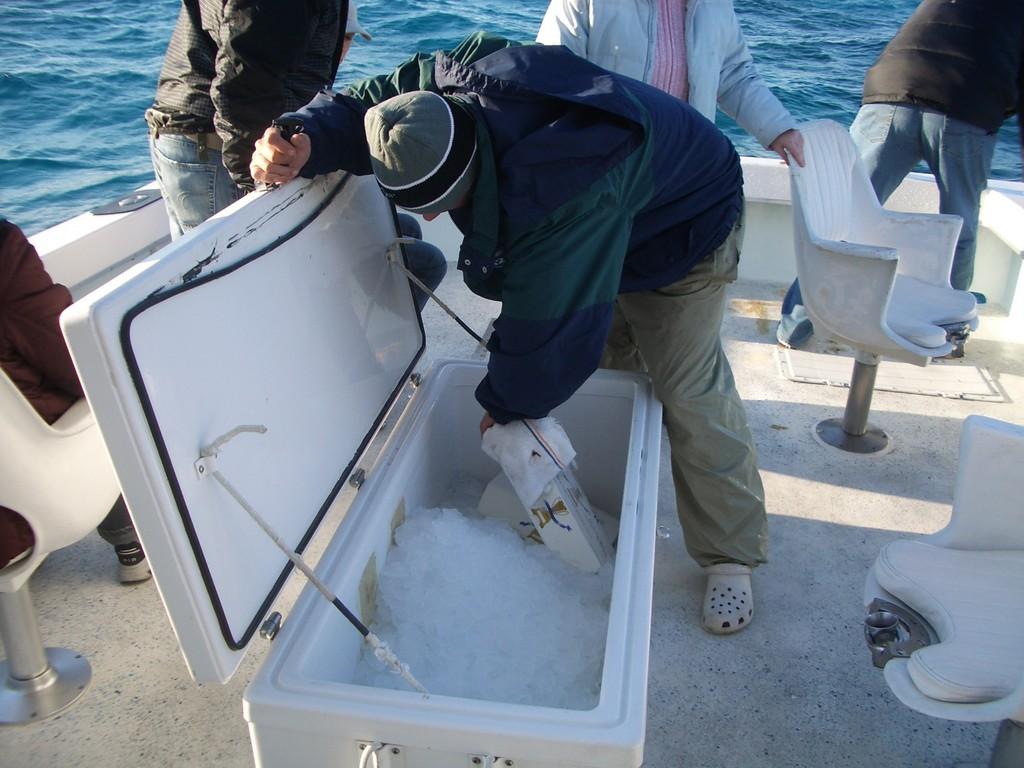 Ледяной матрац для пойманных рыб