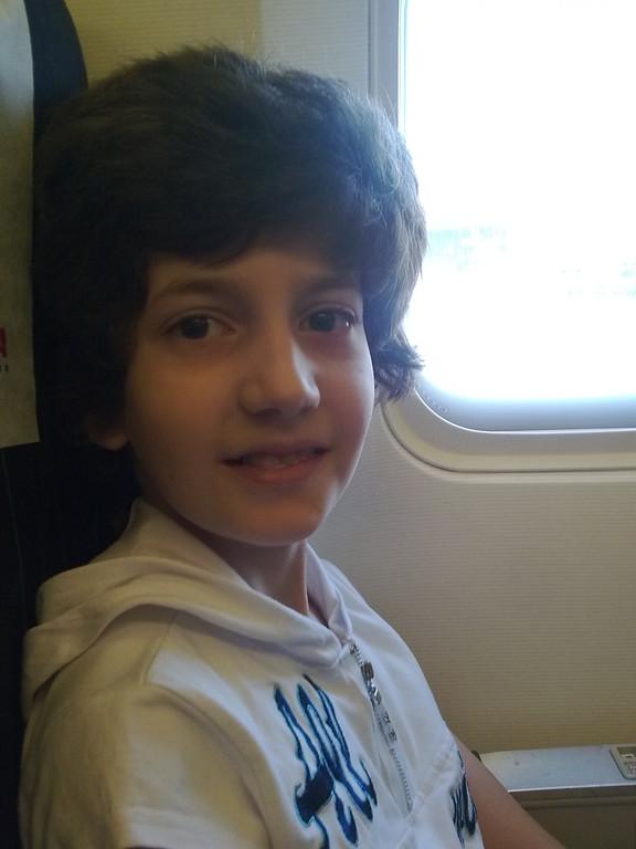 Первый раз лечу в самолете.