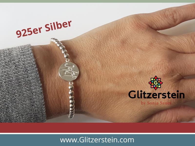 Kugelarmband aus 925er Silber in 4 mm mit dem Schmuckverbinder Jetzt