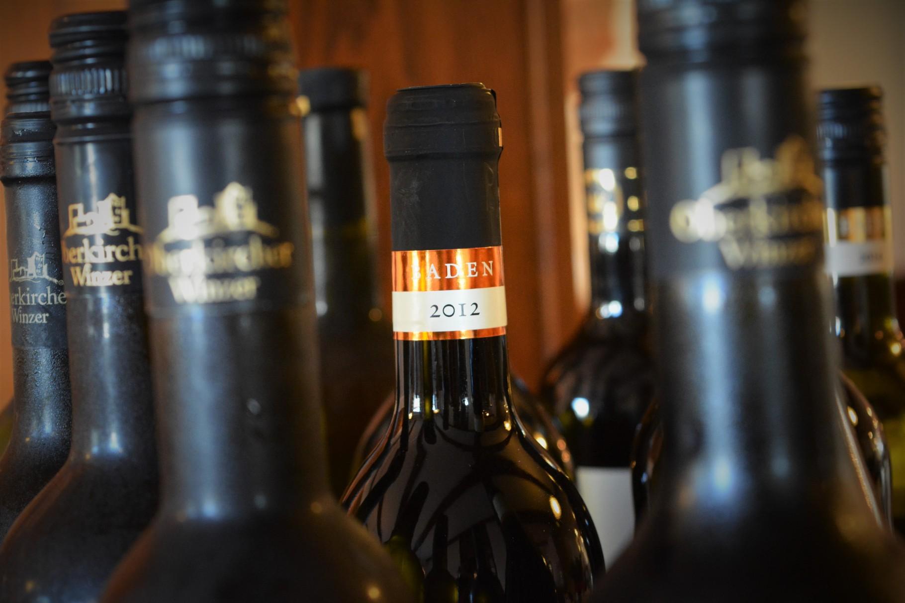Badische Weine, natürlich auch vom Kaiserstuhl