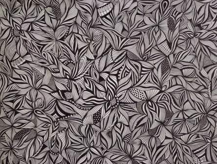 Federzeichnung - Muster-Stoff-Tapeten - Angewandte Kunst