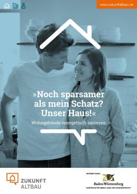 Die neue Broschüre von Zukunft Altbau zur energetischen Sanierung von Wohngebäuden. Energiesparmöglichkeiten im Wohnhaus. Grafiken: Zukunft Altbau