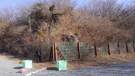 丸火自然公園南駐車場溶岩崖除草前