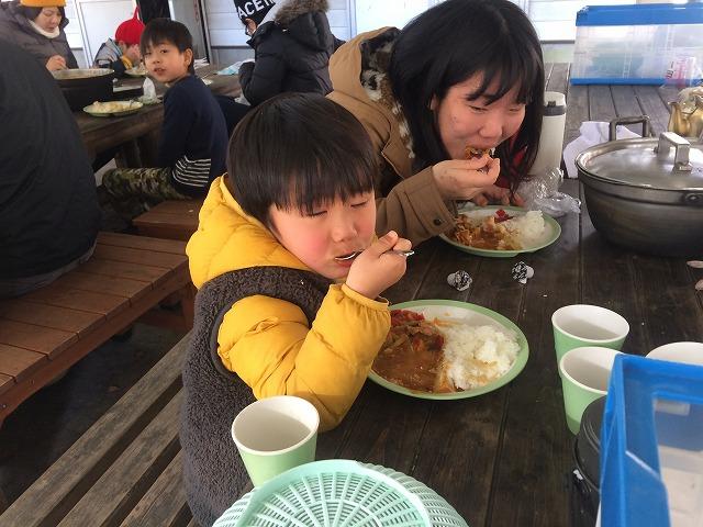 親子でカレー食