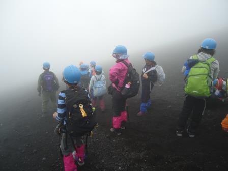 霧の中の下山