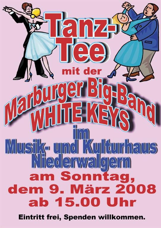 Tanz-Tee 9.3.2008 im Musik- und Kulturhaus Niederwalgern, Plakat