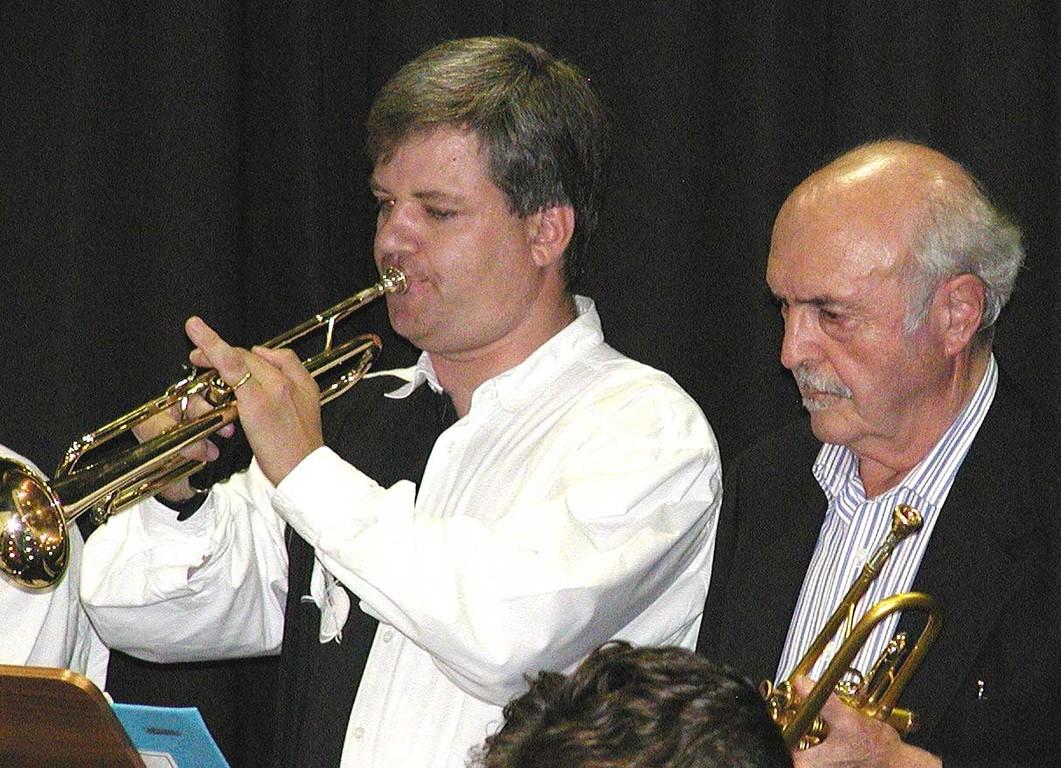 Trompeter Horst Dieterle mit John Coppola