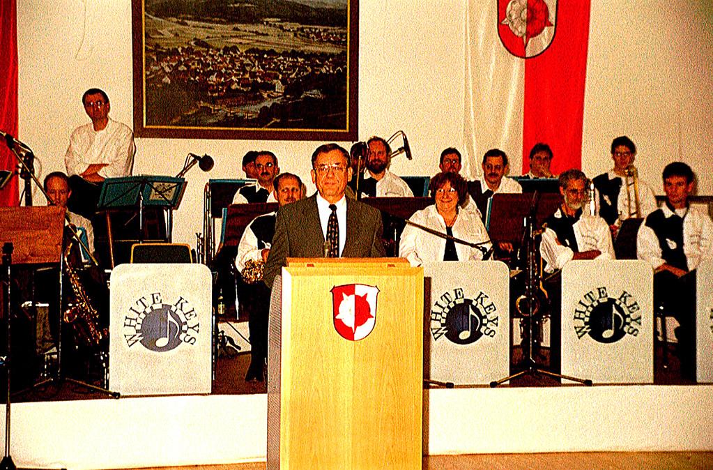 10 Jahre Gemeindepartnerschaft Weimar/Wutha-Farnroda; Bürgermeister Karl Krantz