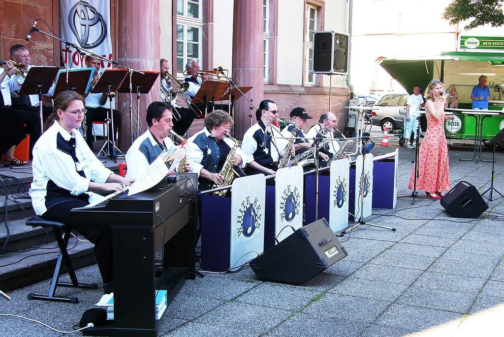 Die Big-Band auf dem Friedrichsplatz