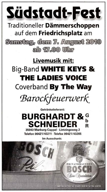 Anzeige in der Oberhessischen Presse
