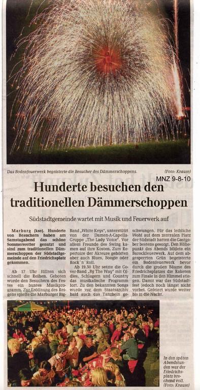Marburger Neue Zeitung 9.8.2010