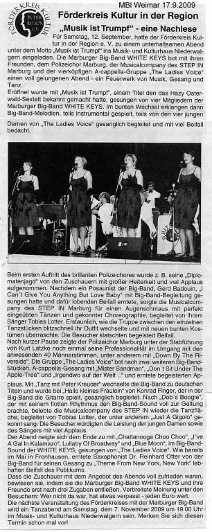 Mittelungsblatt Weimar 17.9.2009