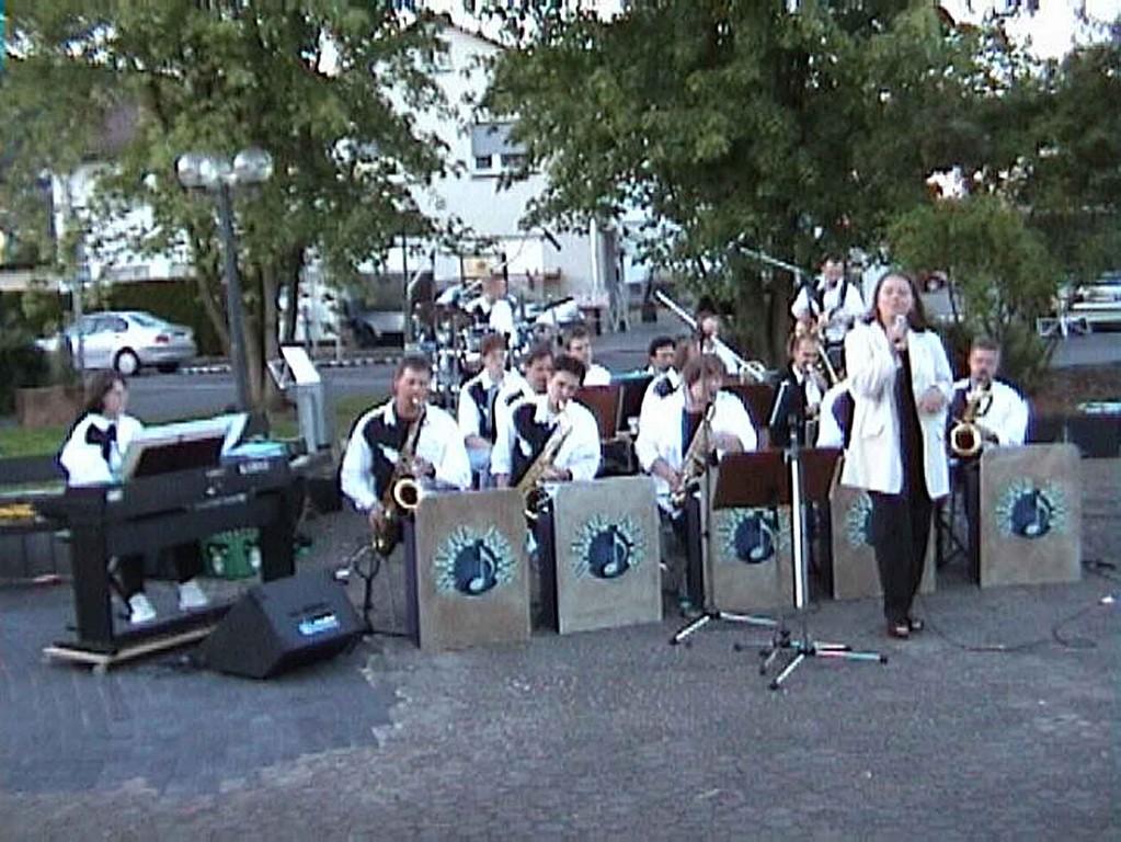 Reservisten-Treffen in Niederweimar am 17.6.2000; die Big-Band mit Sängerin Daniela Hacker