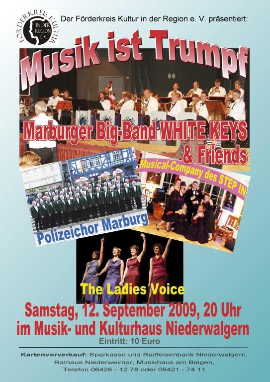 """Musik ist Trumpf"" 12. September 2009, MKH Niederwalgern"