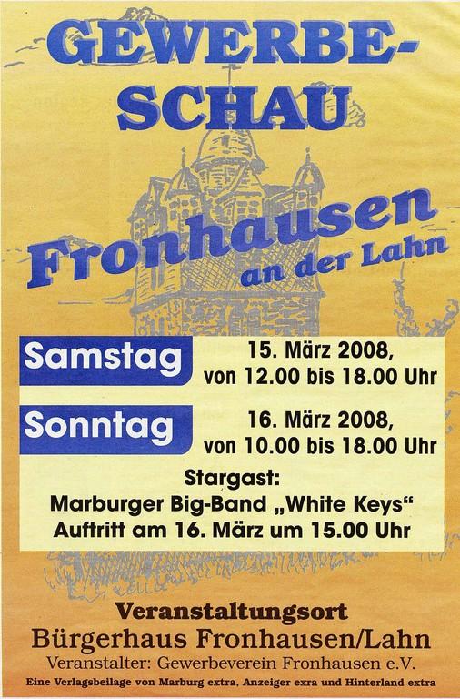 Gewerbeschau Fronhausen 16.3.2008, Plakat