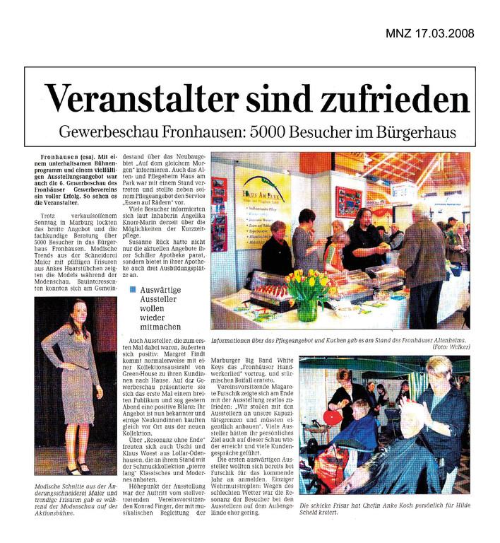 Marburger Neue Zeitung 17.03.2008