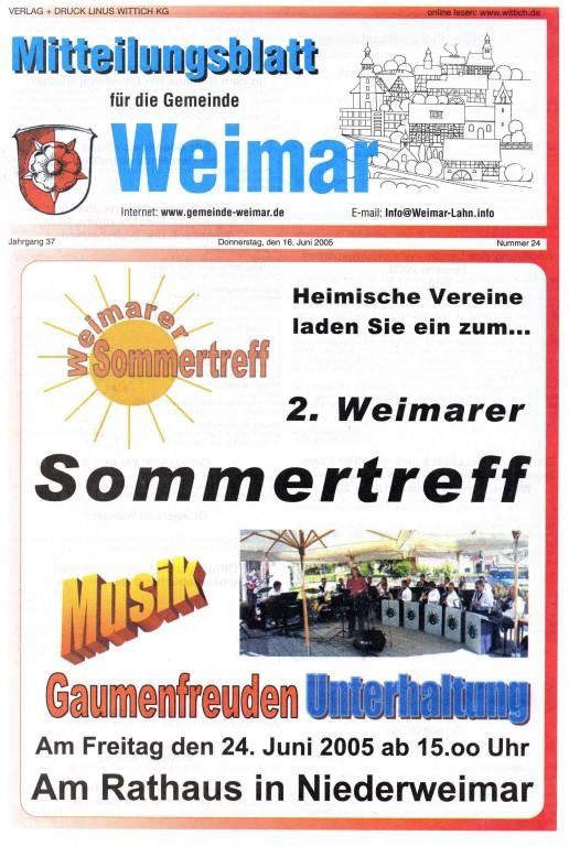 2. Weimarer Sommertreff am 24.6.2005 vor dem Rathaus Niederweimar