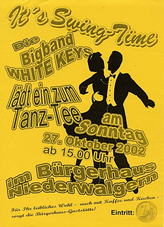 """It´s Swingtime"" Tanz-Tee am 27.10.2002 im BGH Niederwalgern"