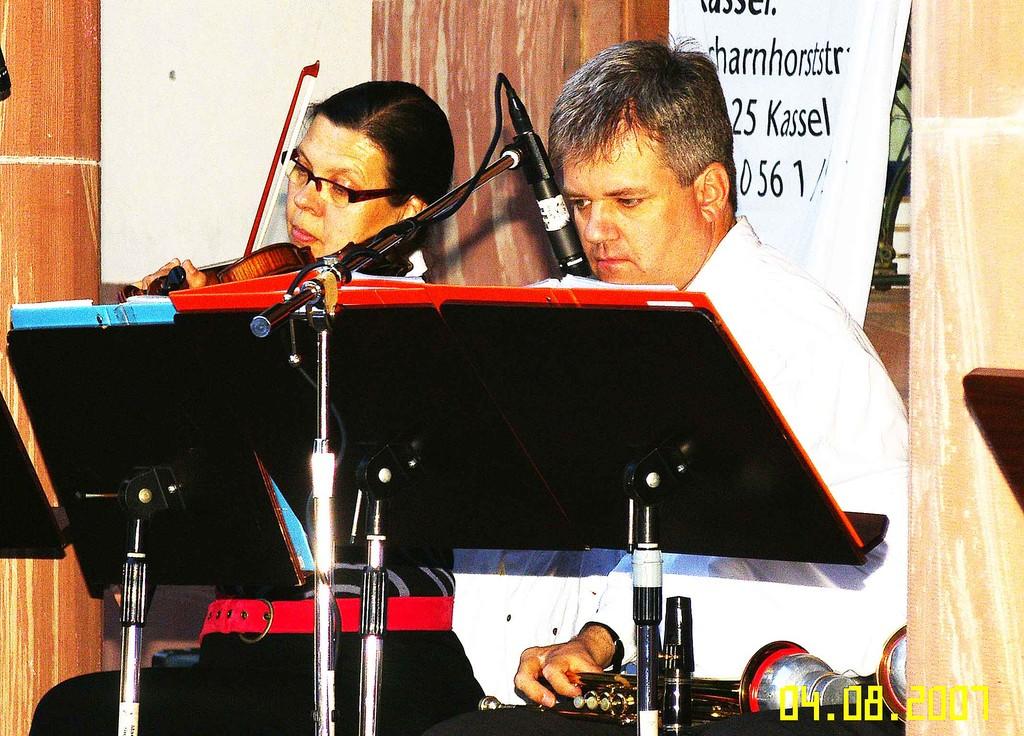 Geige und 1. Trompete