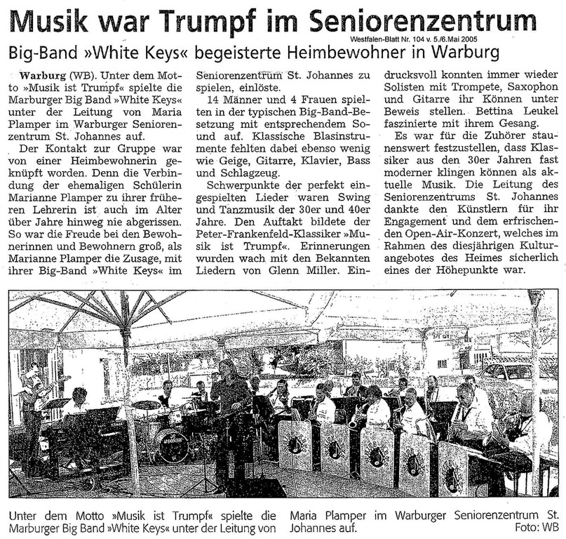 Westfalen Blatt Nr. 104 5./6.5.2005