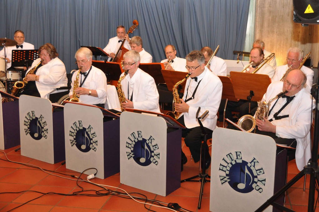Die Musiker der Big-Band in action