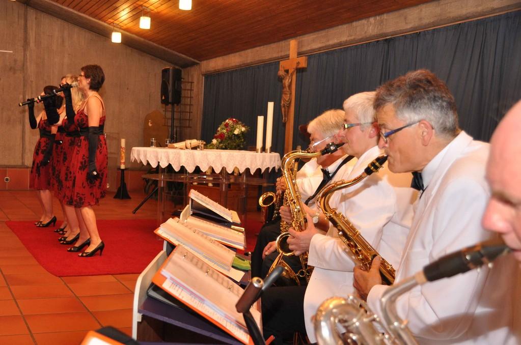 Gemeinsam: The Ladies Voice und die Musiker der Big-Band