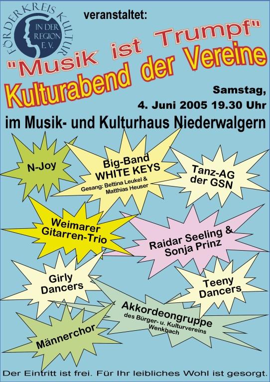 "Kulturabend ""Musik ist Trumpf"" 4.6.2005"
