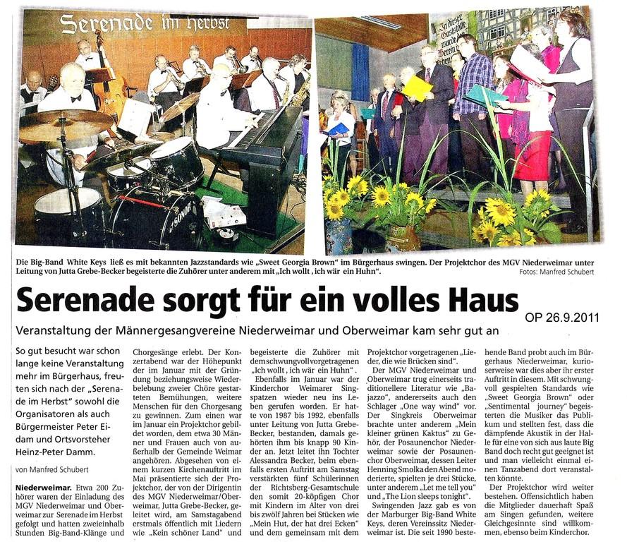 Oberhessische Presse 26.9.2011