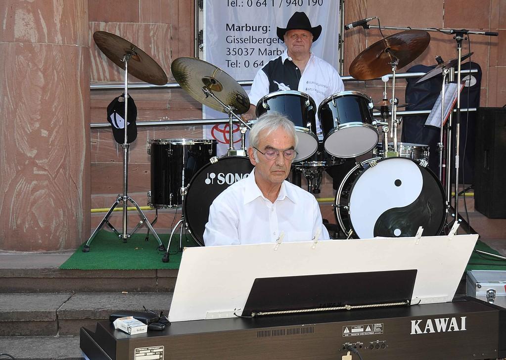 Pianist Hans Wagner und Drumer Klaus Schubert