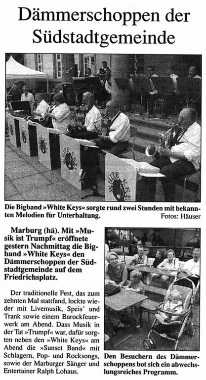 Sonntagmorgen Magazin 8.8.2004