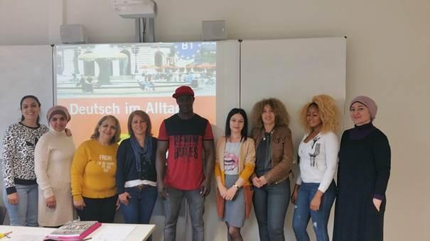 Schülerinnen und Schüler der Modellklasse an der Hedwig-Dohm-Schule in Stuttgart (Herbst 2019)