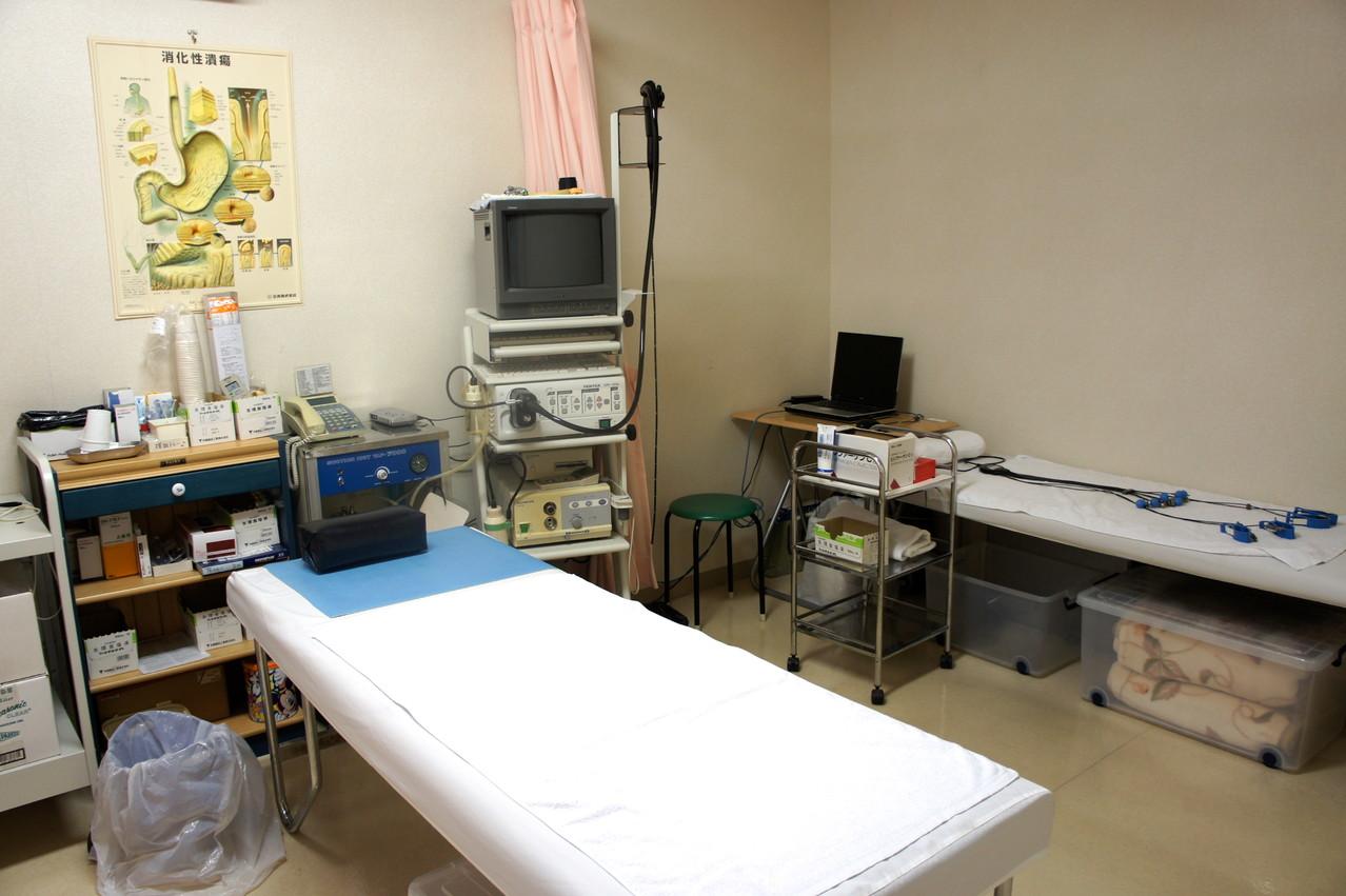 検査室ー内視鏡、心電図、脈波検査,聴力検査