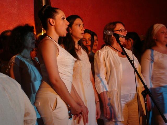 En concert avec les Soulshine voices au restau Jazz