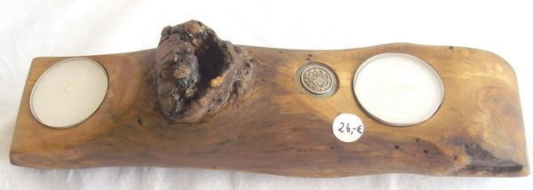 Leuchter aus Obstgehölz -  mehrfach geschliffen und geölt -  Länge -  26cm - Preis 26.-€