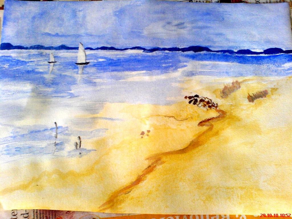 Strandansicht ( Aquarell )