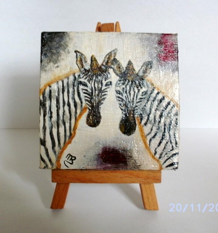 Doppeltes Zebra ( Acryl )