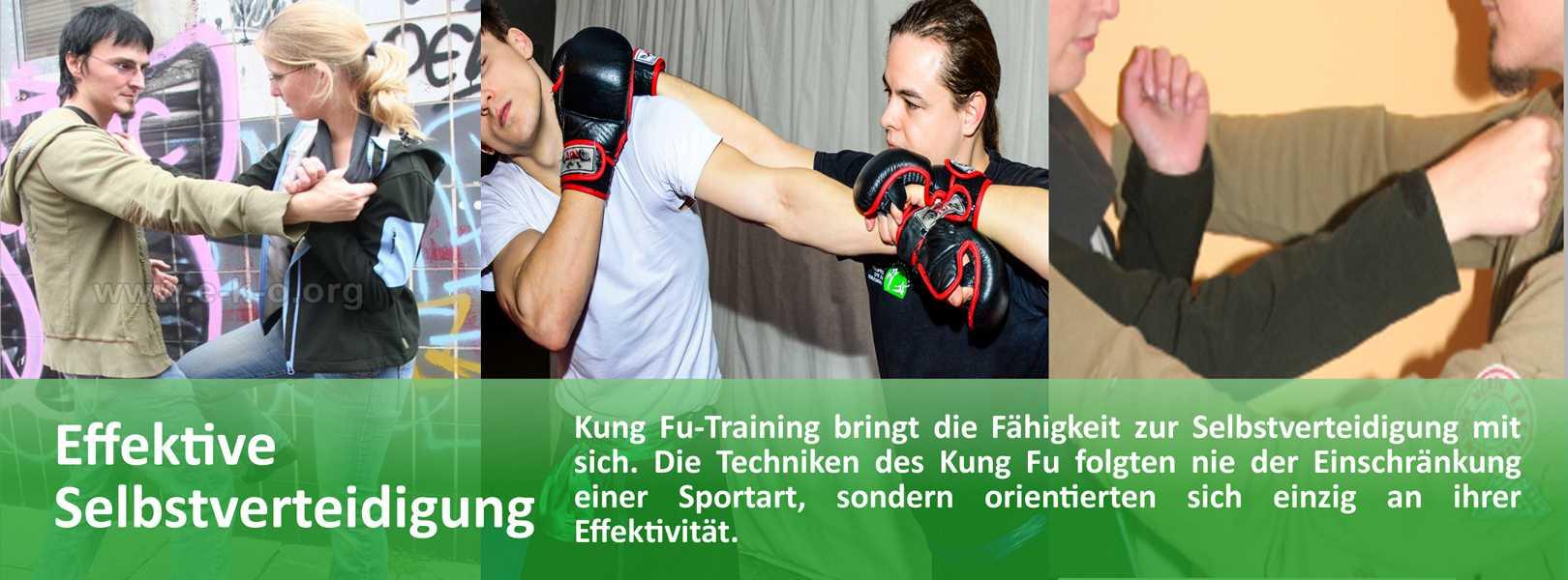 Traditionelles Kung Fu als Kampfkunst beinhaltet alle für eine erfolgreiche Selbstverteidigung erforderliche Techniken.