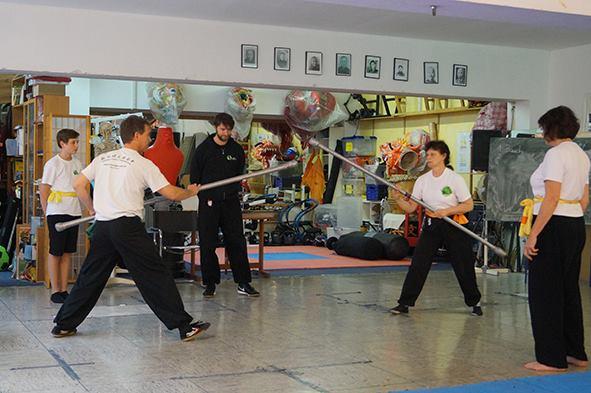 Langstock Kampf beim Kung Fu Köln Cup 2017