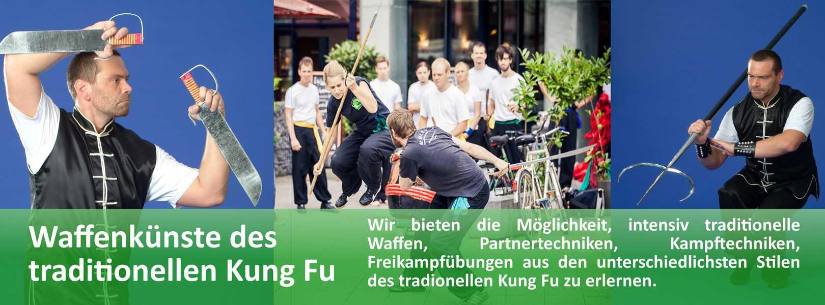 Neben waffenlosem Training bietet die Jing Wu Kung Fu Schule Köln die Möglichkeit verschiedene traditionelle Waffenkünste zu erlernen.