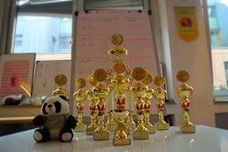 Pokale beim Kung Fu Köln Cup in der Jing Wu Kung Fu Schule Köln