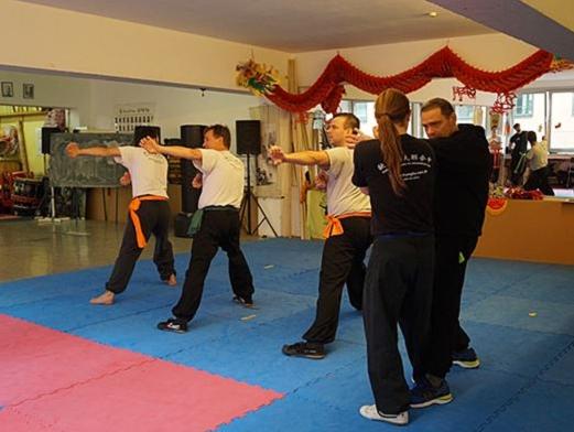 Vorführung beim Kung Fu Köln Cup