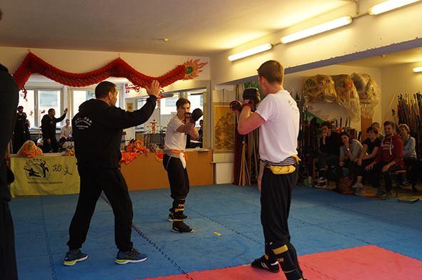 Wettkampfkategorie beim Kung Fu Köln Cup 2017 war auch der Leichtkontakt Kampf