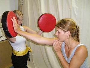 Schlagpolster beim Kampftraining