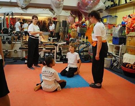 Bodenkampf für Kinder in der Jing Wu Schule Köln